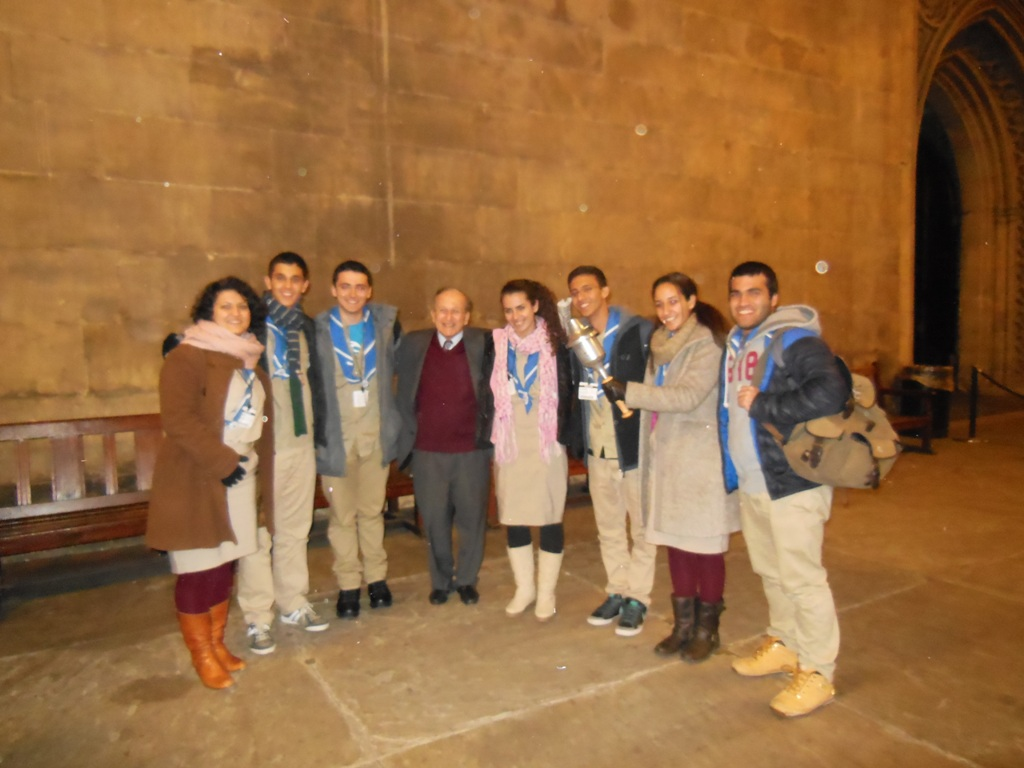 68th Maccabi GB Chanukah Torch Relay Delegation with Lord Janner