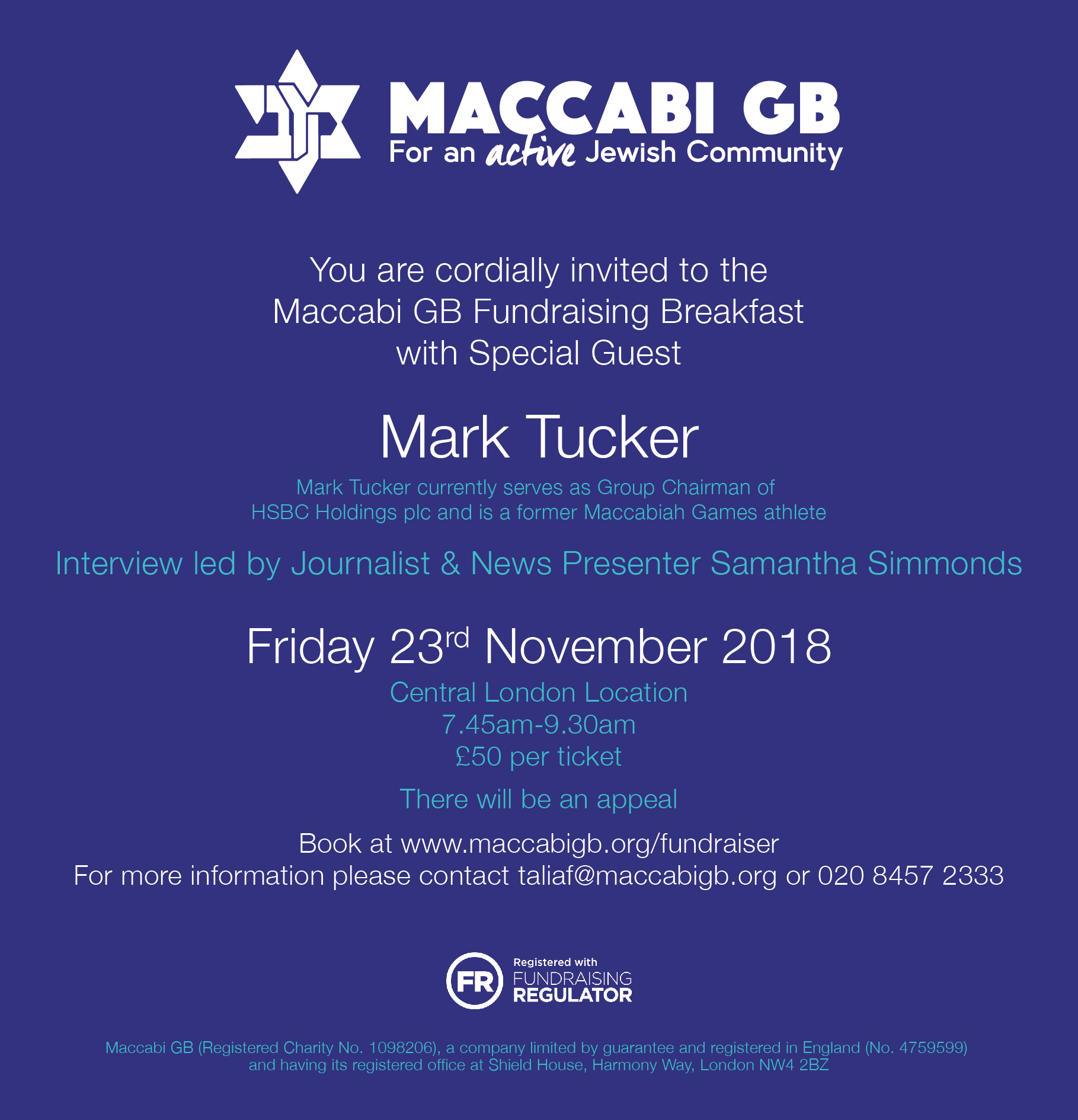 Maccabi GB Fundraising Breakfast with Mark Tucker