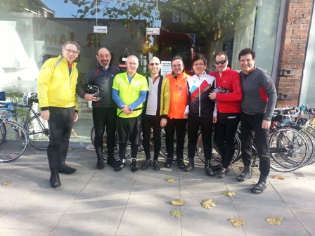 Members of Maccabi GB's Weekly Cycle Club