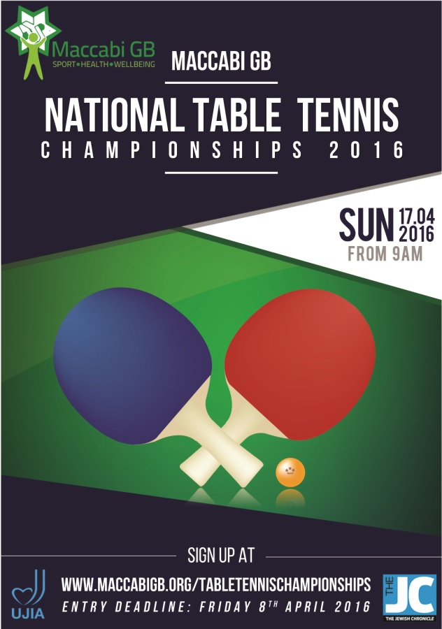 Maccabi Gb Launches The National Table Tennis