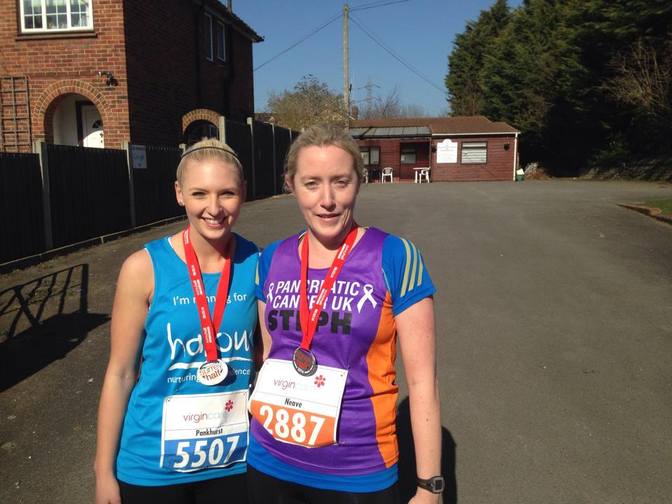 Georgina completes the Surrey Half