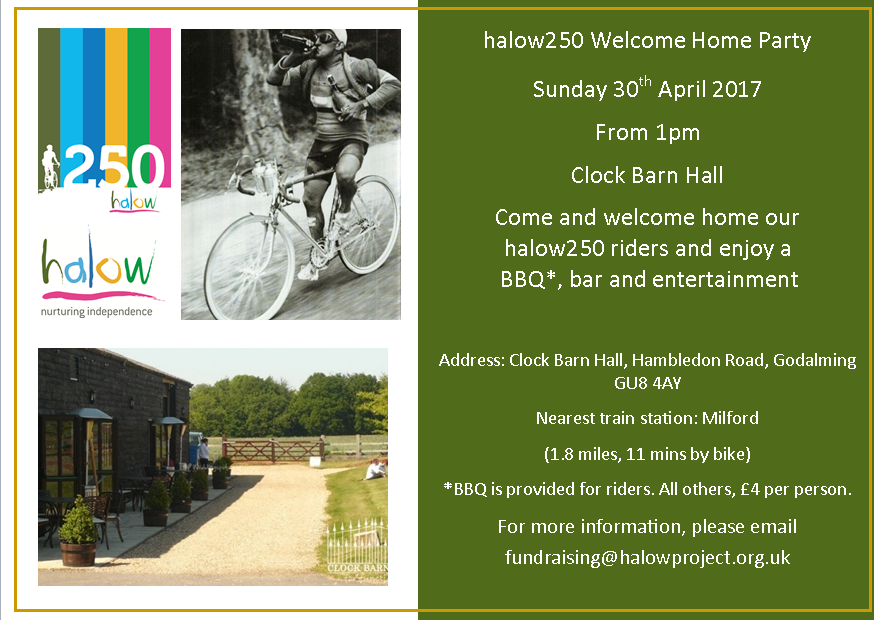 halow250 Welcome Home Party - Halow Project - Support For Learning