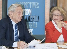 George Soros addresses session chaired by Baroness Stern