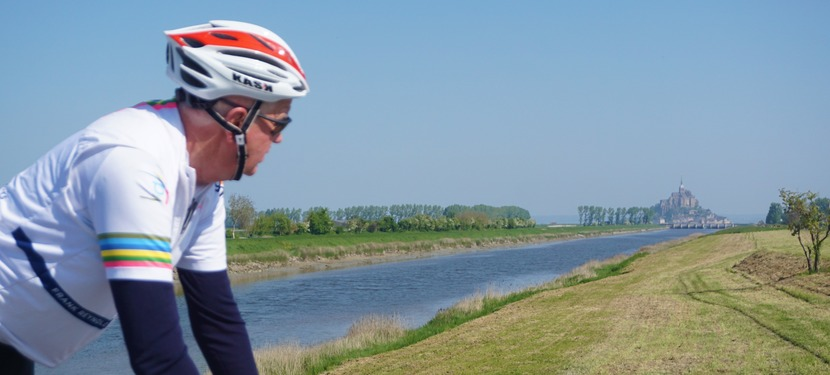 Martin cycling across France halow250