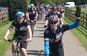 halow250 riders coming into Clock Barn Hall