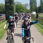 Riders coming into Clock Barn Hall
