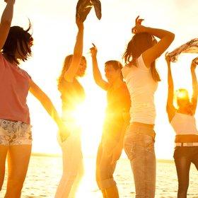teenagers on holiday