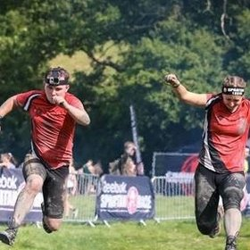 Charlotte and Peter Champions running the Spartan Race