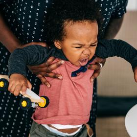 toddler misbehaving