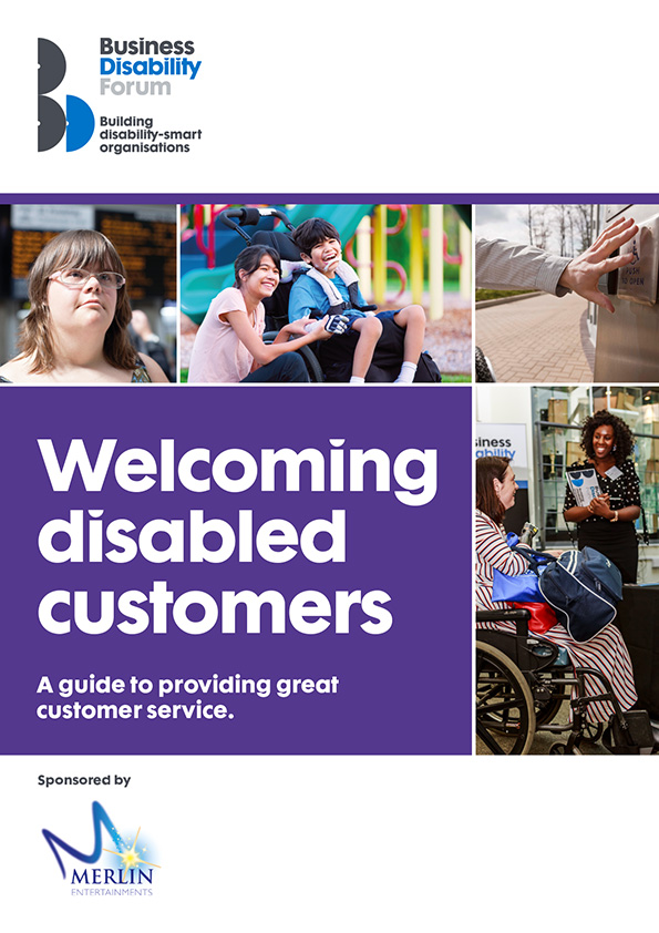 Cover of Welcoming Disabled Customers guide