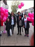 Sarah Sackman with Danielle from Jewish Blind & Disabled, her daughter Olivia and Ben from Hasmo.jpg