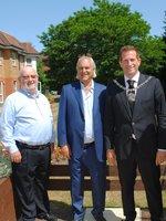 Mayor of Barnet with Malcolm Ozin, John Joseph & Karen Zeff.JPG