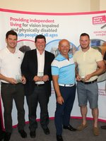 Lloyd Botchin with winning team - Jack Lennon, Geraint Watkins, Simon Williams & Tyrone Long from Genesis Advisory Service.jpg