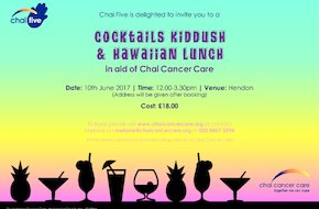 Chai Five Presents Cocktails Kiddush & Hawaiian Lunch