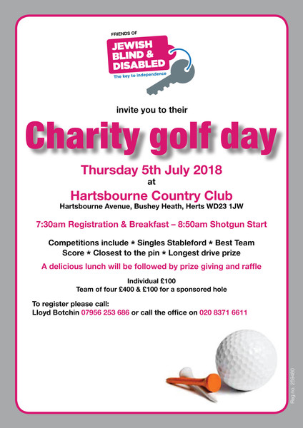 Friends of Jewish Blind & Disabled Golf Day 2017