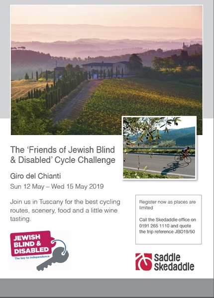 Friends of Jewish Blind & Disabled Italian Cycle Challenge 2019