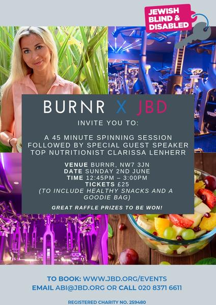 BURNR X JBD SPIN & NUTRITION EVENT