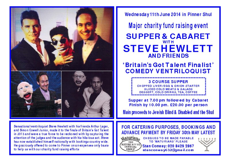 "Pinner Synagogue ""Maturians"" event"