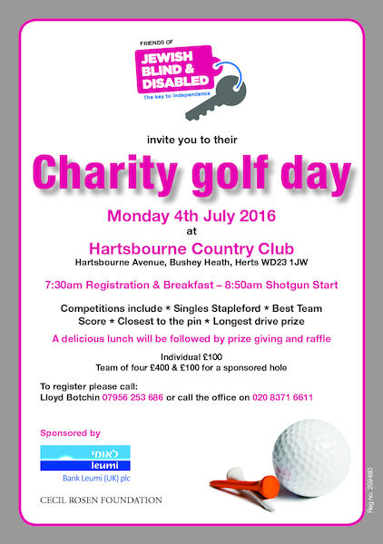 Friends of Jewish Blind & Disabled Golf Day